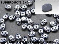 SuperDuo 2.5x5mm Hematite - 10 g