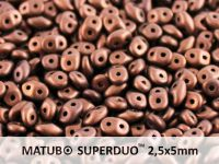 SuperDuo 2.5x5mm Matte Dark Bronze - 10 g