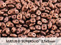 SuperDuo 2.5x5mm Matte Dark Bronze - 10 g
