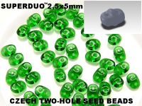 SuperDuo 2.5x5mm Green - 10 g