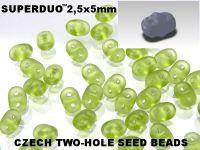 SuperDuo 2.5x5mm Matte Olivine - 10 g