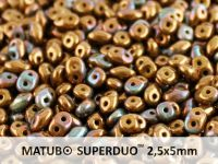 SuperDuo 2.5x5mm Bronze Vega - Opaque Olivine - 10 g