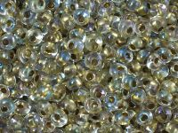 TOHO Magatama 3mm-262 Inside-Color Crystal - Gold Lined - 10 g