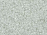 TOHO Round 15o-981 Inside-Color Crystal - Snow Lined - 5 g