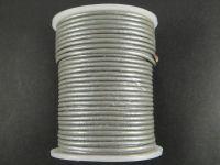 Rzemień 2 mm szary metaliczny - 1 m