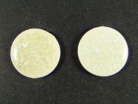Kaboszon ceramiczny cracle biały 28 mm - 1 sztuka