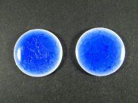 Kaboszon ceramiczny cracle granatowy 28 mm - 1 sztuka