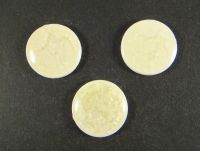Kaboszon ceramiczny cracle biały 23 mm - 1 sztuka