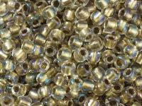 TOHO Round 6o-262 Inside-Color Crystal - Gold Lined - 10 g