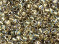 TOHO Round 6o-262 Inside-Color Crystal - Gold Lined - 10 g