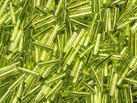 TOHO Bugle 3-24 Silver-Lined Lime Green - 10 g