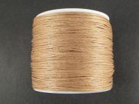 Sznurek woskowany 0.65 mm jasnobrązowy - 3 m