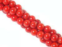 Koral czerwony kula 4 mm - sznur 40 cm