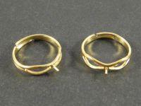 Pozłacana baza pierścionka z bolcem - 18 mm