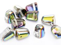 Gumdrop Beads Crystal Vitrail 10x7 mm - 10 sztuk
