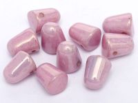 Gumdrop Beads Luster - Metallic Lilac 10x7 mm - 10 sztuk