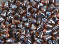Gumdrop Beads Topaz Picasso 10x7 mm - 10 sztuk