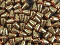 Gumdrop Beads Luster - Transparent Gold Sm. Topaz 10x7 mm - 10 sztuk