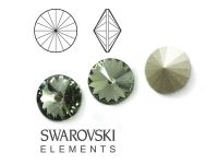 Rivoli Swarovski 8 mm Black Diamond F - 2 sztuki