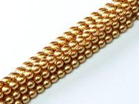 Perełki szklane złote 3 mm - sznur