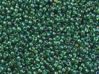 TOHO Round 11o-249 Inside-Color Peridot - Emerald Lined - 10 g