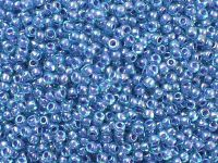 TOHO Round 11o-1837 Inside-Color Rainbow Aqua - Opaque Purple Lined - 10 g