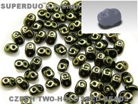 SuperDuo 2.5x5mm Luster - Metallic Olivine - 10 g