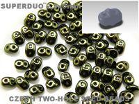 SuperDuo 2.5x5mm Luster - Metallic Olivine - 10 g