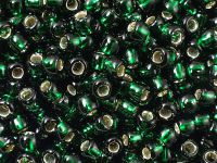 TOHO Round 6o-36 Silver-Lined Green Emerald - 10 g