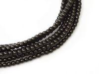 Perełki szklane czarne 3 mm - sznur