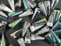 Spike Beads Crystal Vitrail 17x7 mm - 10 sztuk