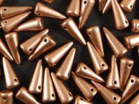Spike Beads Matte Metallic Copper 13x5 mm - 10 sztuk