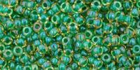 TOHO Round 11o-242 Inside-Color Luster Jonquil - Emerald Lined - 10 g