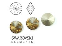 Rivoli Swarovski 12 mm Crystal Golden Shadow F - 1 sztuka