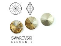 Rivoli Swarovski 14 mm Crystal Golden Shadow F - 1 sztuka