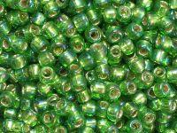 TOHO Round 6o-2027 Silver-Lined Rainbow Peridot - 10 g