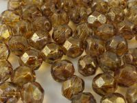 FP 6mm Luster-Transparent Gold-Smoky Topaz - 20 sztuk
