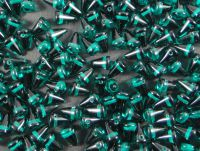 Spike Beads Emerald 8x5 mm - 20 sztuk