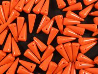 Spike Beads Opaque Red Orange 13x5 mm - 10 sztuk