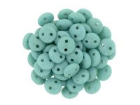 Lentil 6mm Opaque Turquoise - 20 sztuk