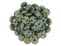 Lentil 6mm Turquoise - Bronze Picasso - 20 sztuk