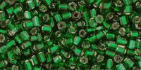 TOHO Hex 11o-36 Silver-Lined Green Emerald - 10 g