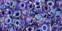 TOHO Round 6o-181 Inside-Color Rainbow Crystal - Tanzanite Lined - 10 g
