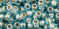 TOHO Round 6o-990 Gold-Lined Aqua - 10 g