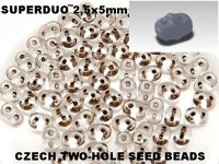 SuperDuo 2.5x5mm Brown-Lined Crystal - 10 g