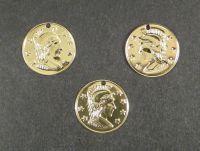 Zawieszka pozłacana moneta rzymska - 2 sztuki