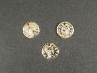 Zawieszka pozłacana moneta rzymska mała - 4 sztuki