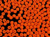 Round Beads Neon Orange 3 mm - 40 sztuk