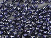 Spike Beads Tanzanite 8x5 mm - 20 sztuk