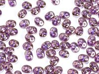 SuperDuo 2.5x5mm Luster - Transparent Gold Lavender - 10 g